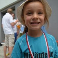 EZ-Lauf 2014 Mitläuferle mit Medaille