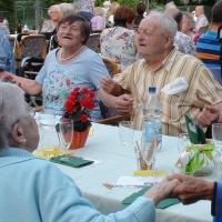 Auf dem Sommerfest für die Senioren im Wohnstift Radäcker herrschte ein wunderschönes Ambiente