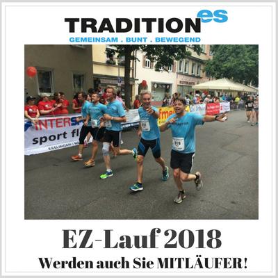 Mit tradition-ES zum EZ-Lauf 2018: Online-Anmeldung